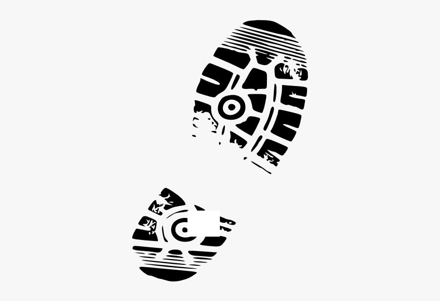 Shoe Print Vector Free - Shoe Sole Clipart, Transparent Clipart