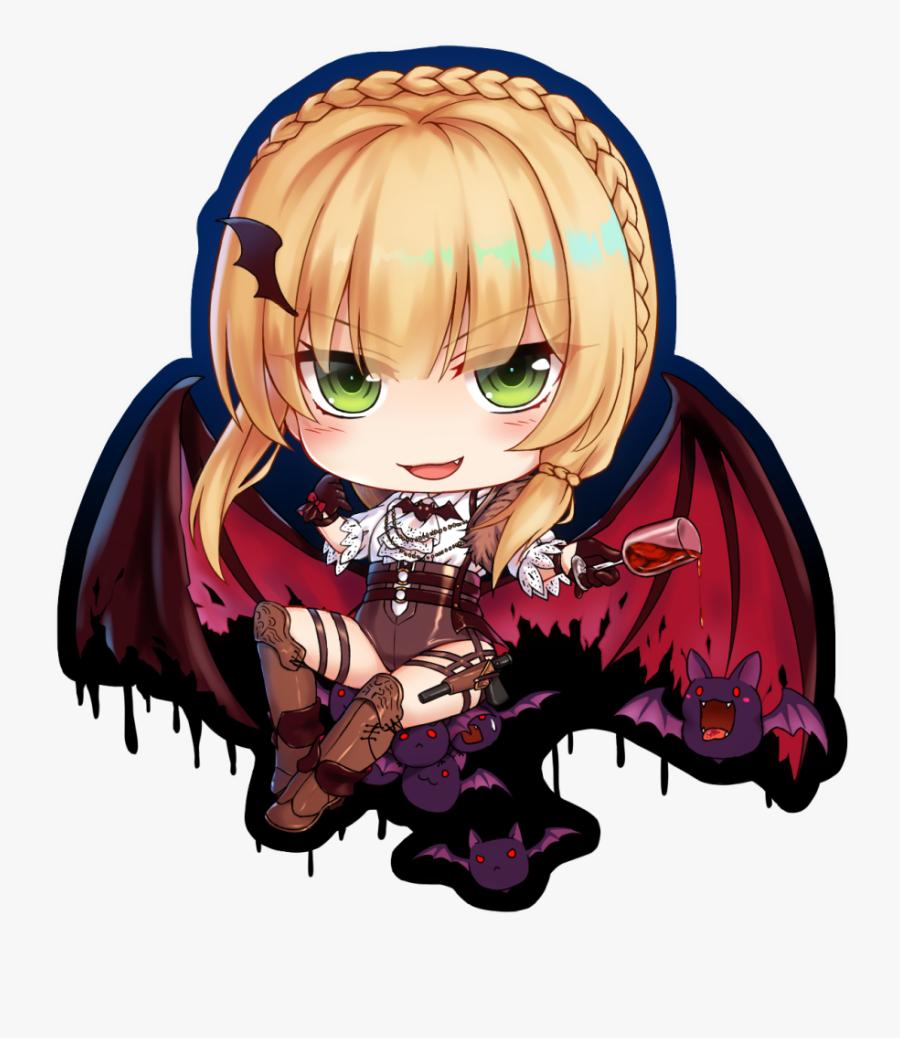 #chibi #anime #cute #vampire #freetoedit - Anime Cute Anime Chibi Vampire, Transparent Clipart