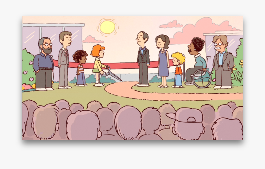 The Ordinary Extraordinary Town And The Time Of The - Community Service Center Cartoon, Transparent Clipart