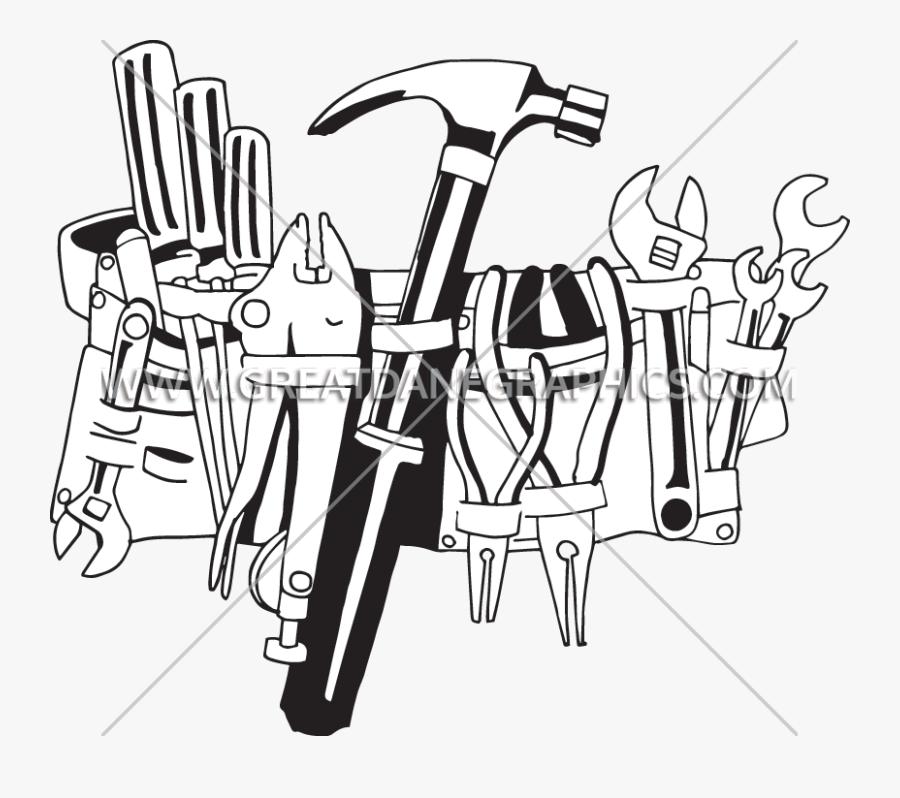 Handy Tool Production Ready - Clip Art Tool Belt, Transparent Clipart