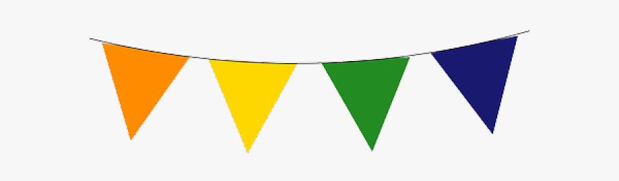 Festival Cliparts - Transparent Party Flags Clipart, Transparent Clipart