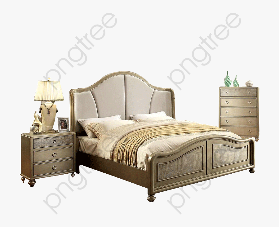 Double Room Clipart - Bed Frame, Transparent Clipart