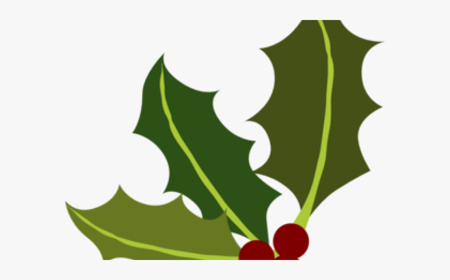 Holley Clipart Page Divider - Transparent Background Holly Leaf Clipart, Transparent Clipart