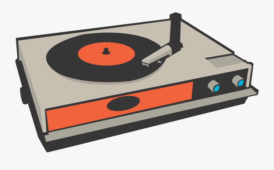Phonograph Record Disc Jockey Music Clip Art - Vinyl Record Player Clipart, Transparent Clipart