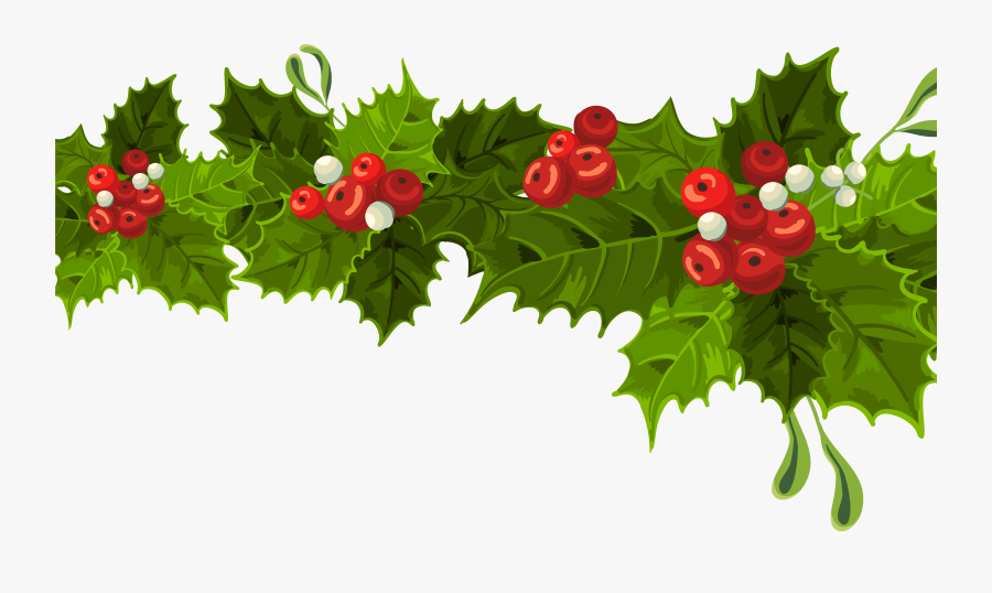 Christmas Decoration Clipart - Christmas Mistletoe Decoration, Transparent Clipart