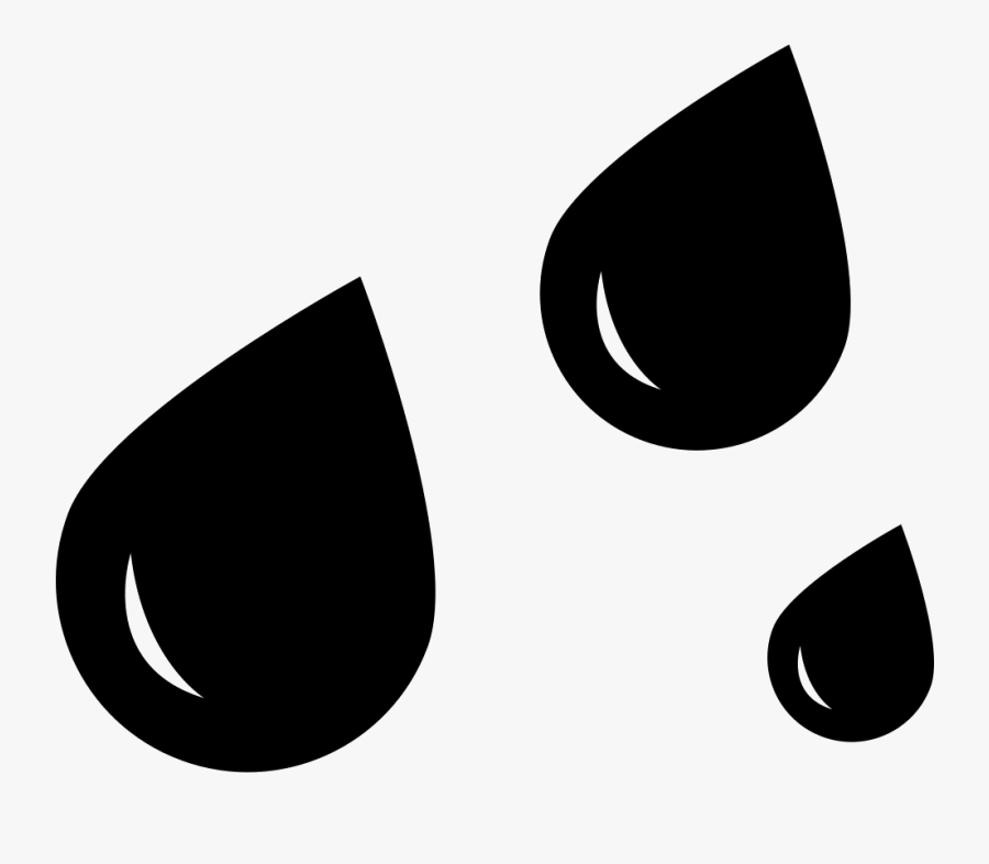Clip Art Rain Drop Svg - Rain Drops Icon Png, Transparent Clipart