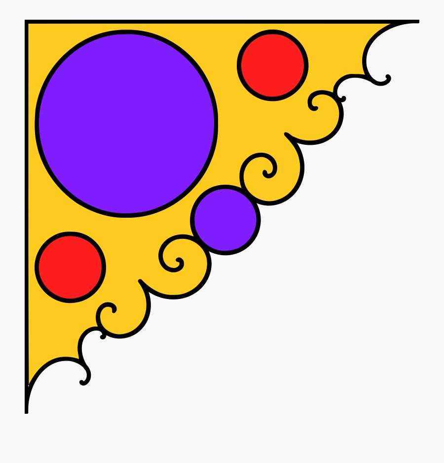 Yellow Decorative Arts Floral Design Point Ornament - Red Corner Decoration Png, Transparent Clipart