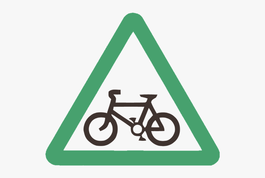 Visalia Riders Ca Meetup - Cycle Route Ahead Sign, Transparent Clipart