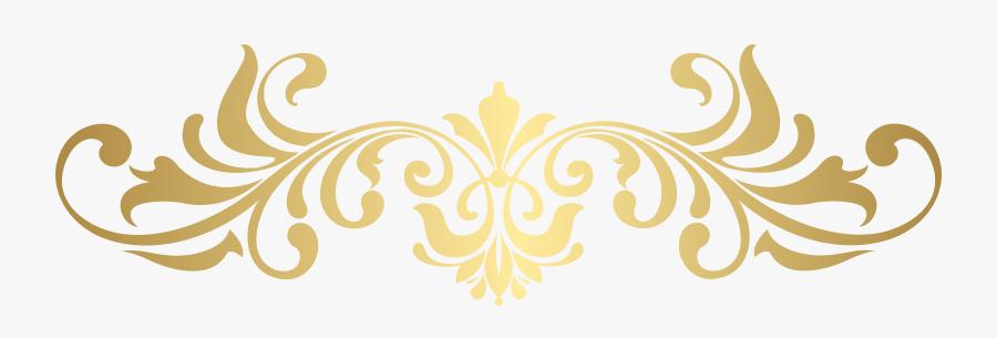 Gold Ornament Png - Golden Ornamental Frame Png, Transparent Clipart