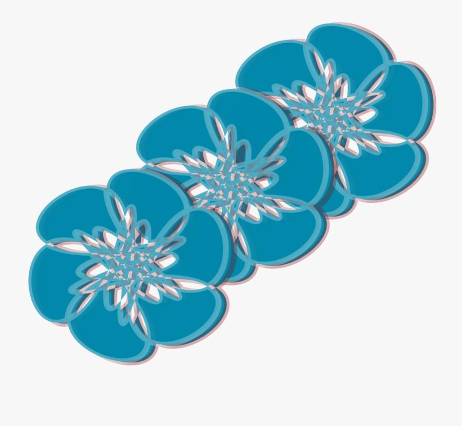 Blue,turquoise,flower - Flower Teal Transparent, Transparent Clipart