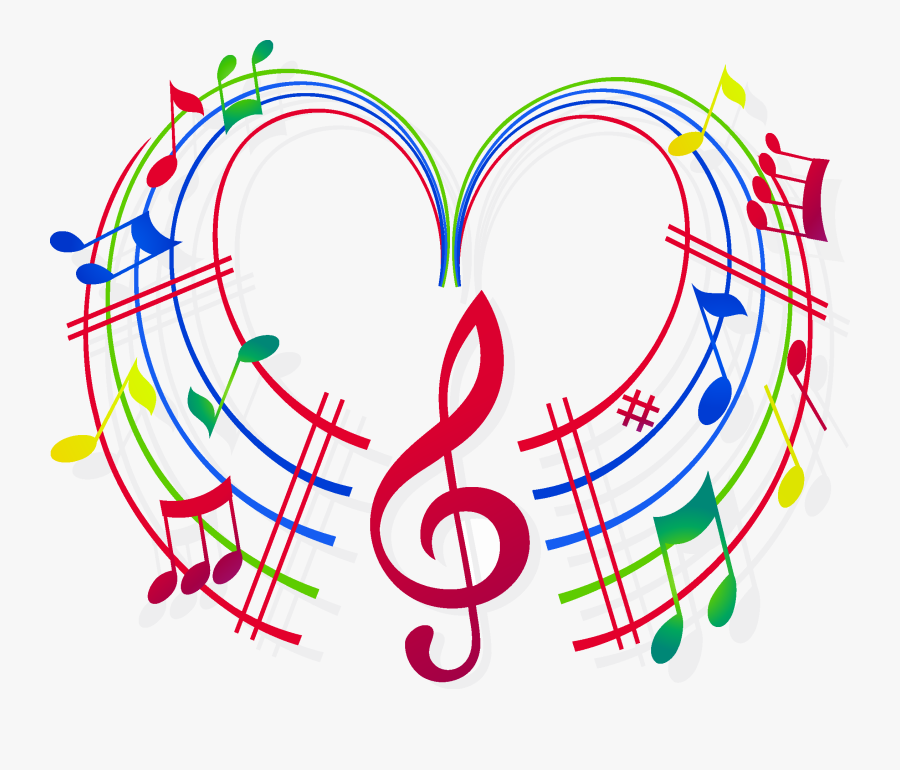 Music Notes Heart Clipart Stock Techflourish Collections - Colorful Transparent Music Notes Png, Transparent Clipart