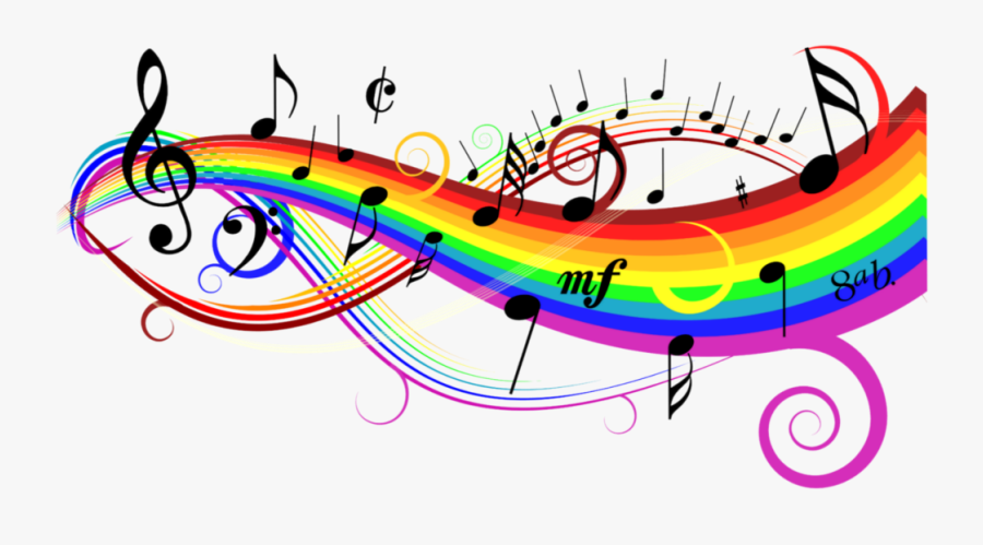 freetoedit #rainbow #colorful #music #notes #background - Clip Art Colorful Music , Free Transparent Clipart - ClipartKey