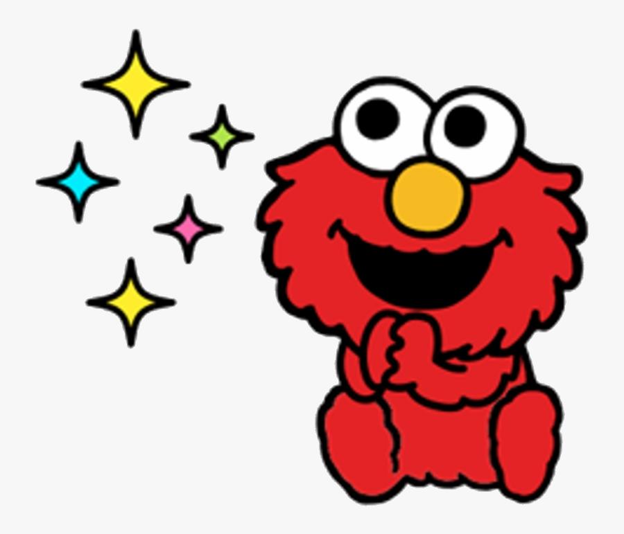 Elmo Sesame Street Stickers Telegram Clipart Transparent