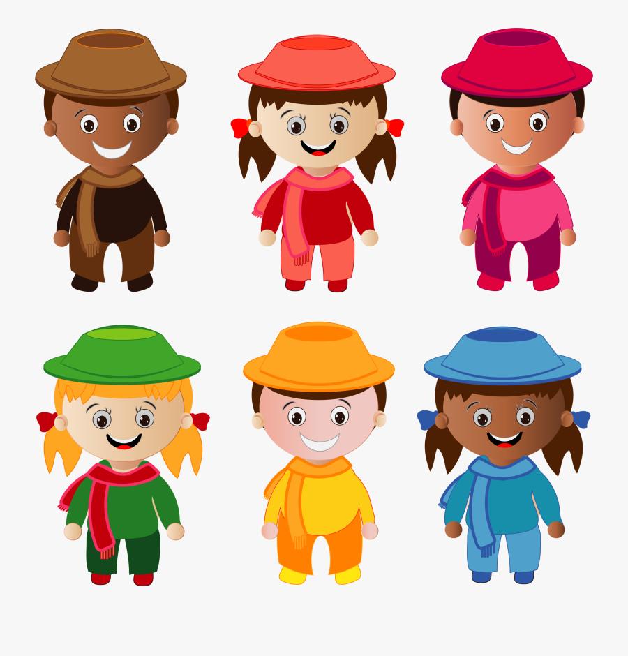 Winter Kids Part - Clip Art Kids Clothing, Transparent Clipart
