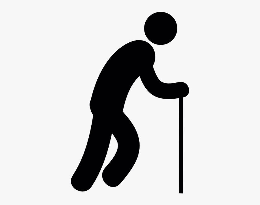 Old Age Stick Figure Computer Icons Walking Stick Person - Stickman With Walking Stick, Transparent Clipart