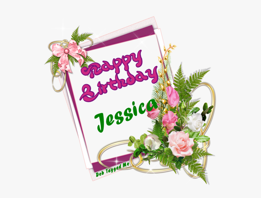 Glitter Text » Personal » Happy Birthday - Happy Birthday Ashley With Flowers, Transparent Clipart