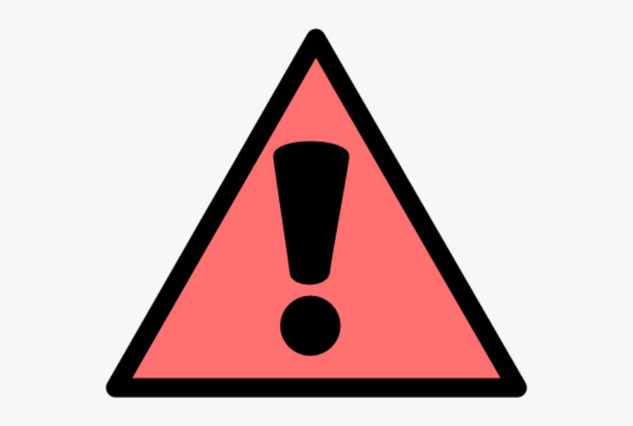 Transparent Caution Clipart - Warning Sign Png Pink, Transparent Clipart