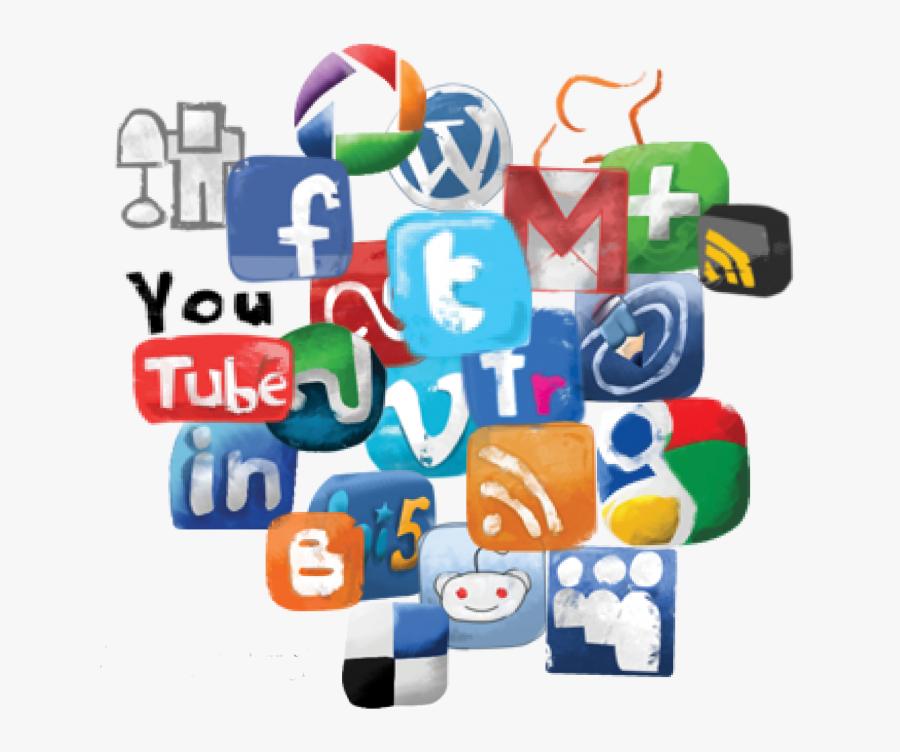 Social Media Icon Set - Social Media Transparent, Transparent Clipart