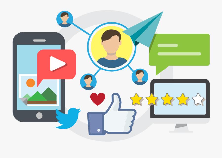 Social Media Management Illustration, Transparent Clipart