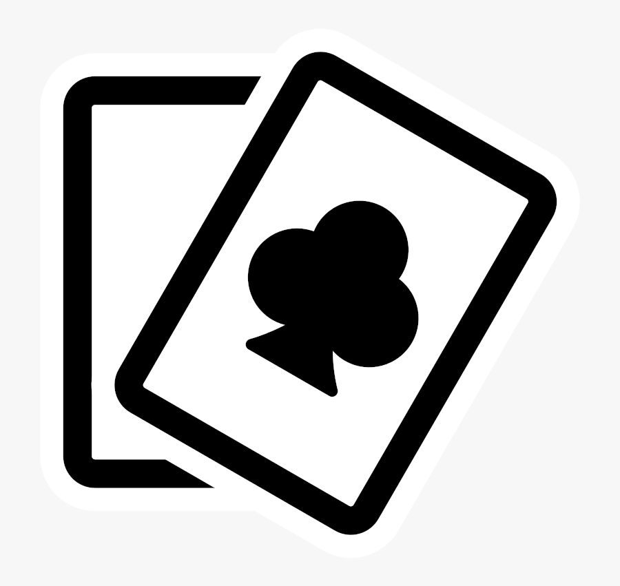 Clip Art Poker Card Clipart - Black And White Clipart Playing Cards, Transparent Clipart