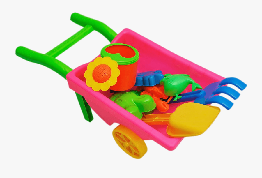 Svg Library Stock Beach Toys In Wheelbarrow - Juguetes Png, Transparent Clipart
