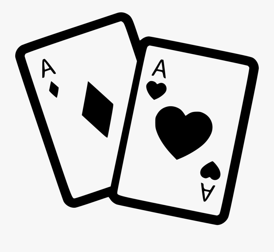 Clip Art Cards Gambling Svg Png - Dice And Cards Drawing, Transparent Clipart