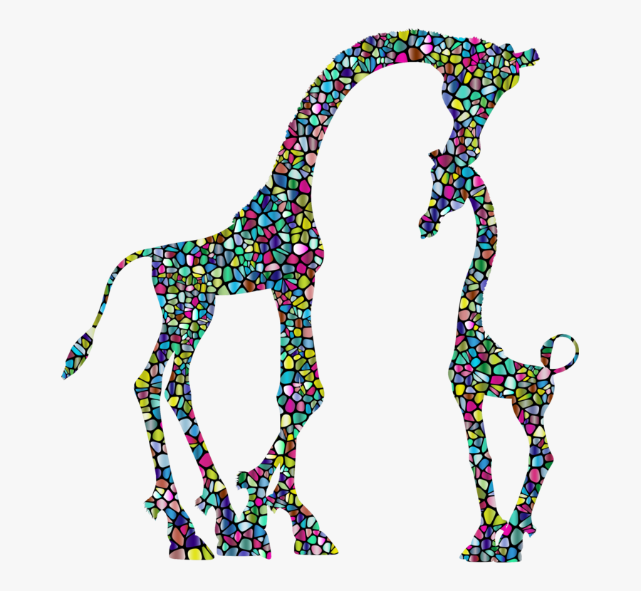 Figure - Baby Giraffe Clipart Black And White, Transparent Clipart