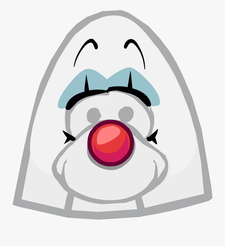 Clown Face Paint Png - Club Penguin Elvis Hair, Transparent Clipart