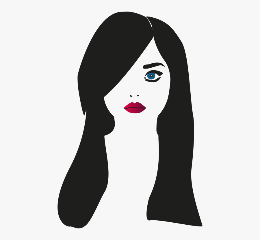 Head,woman,silhouette - Girl Cartoon Portrait Painting, Transparent Clipart