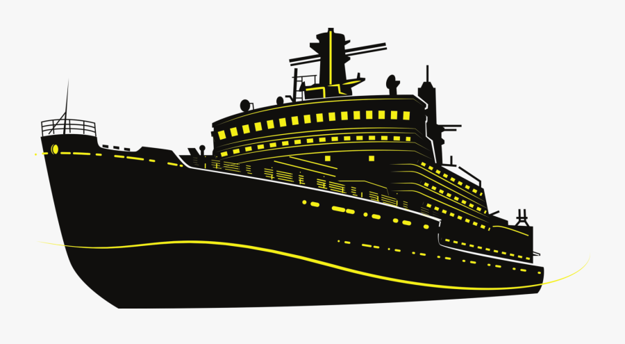 Ocean Liner,watercraft,heavy Cruiser - Cruise Ship Silhouette Png, Transparent Clipart