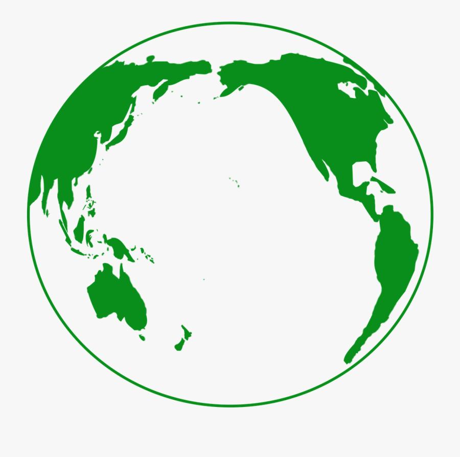 Transparent Ocean Clipart - Green Planet Icon Png, Transparent Clipart