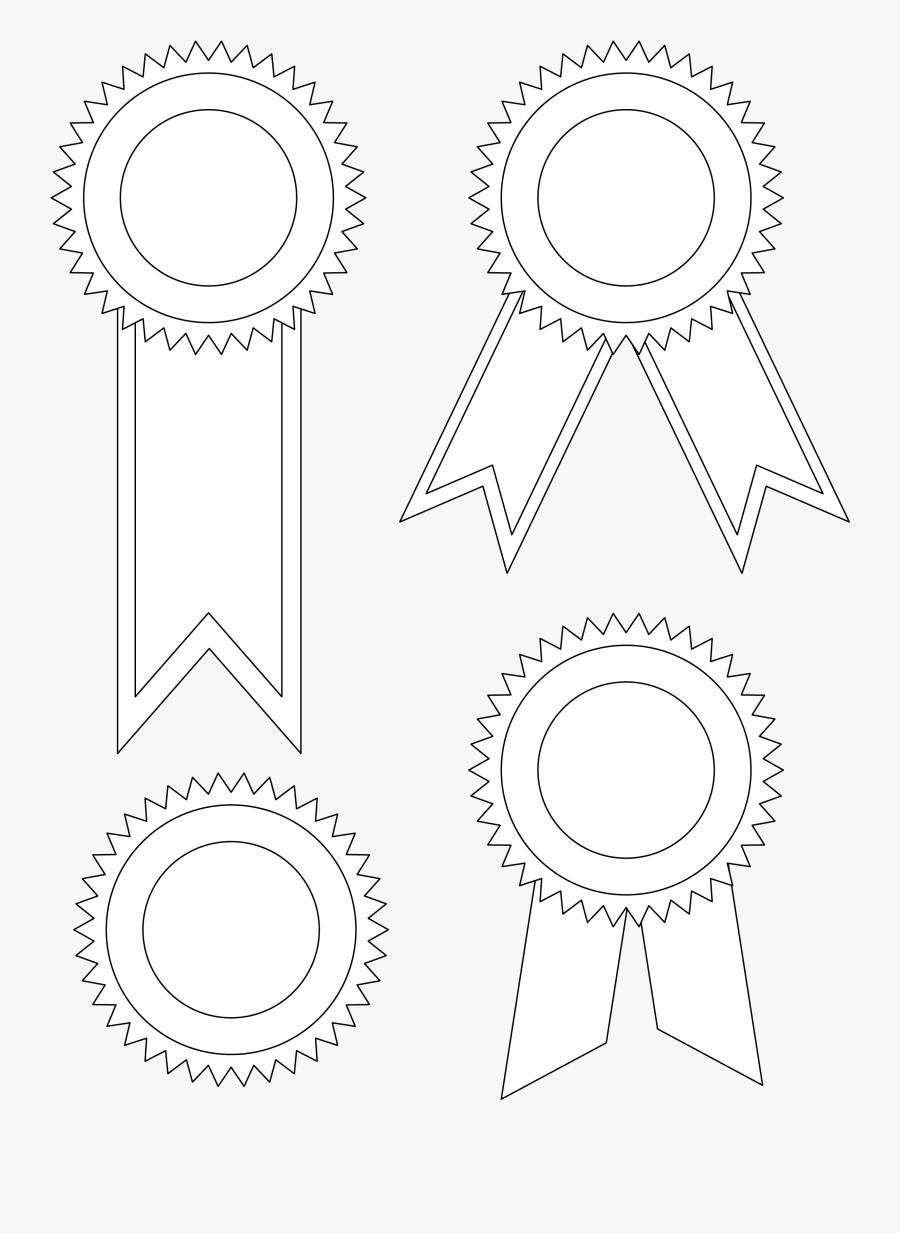 Award Clipart Printable - Ribbon Template Word, Transparent Clipart