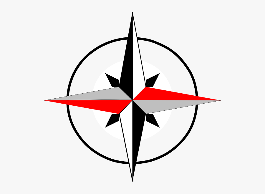 North - Clipart - Compass North East West South, Transparent Clipart