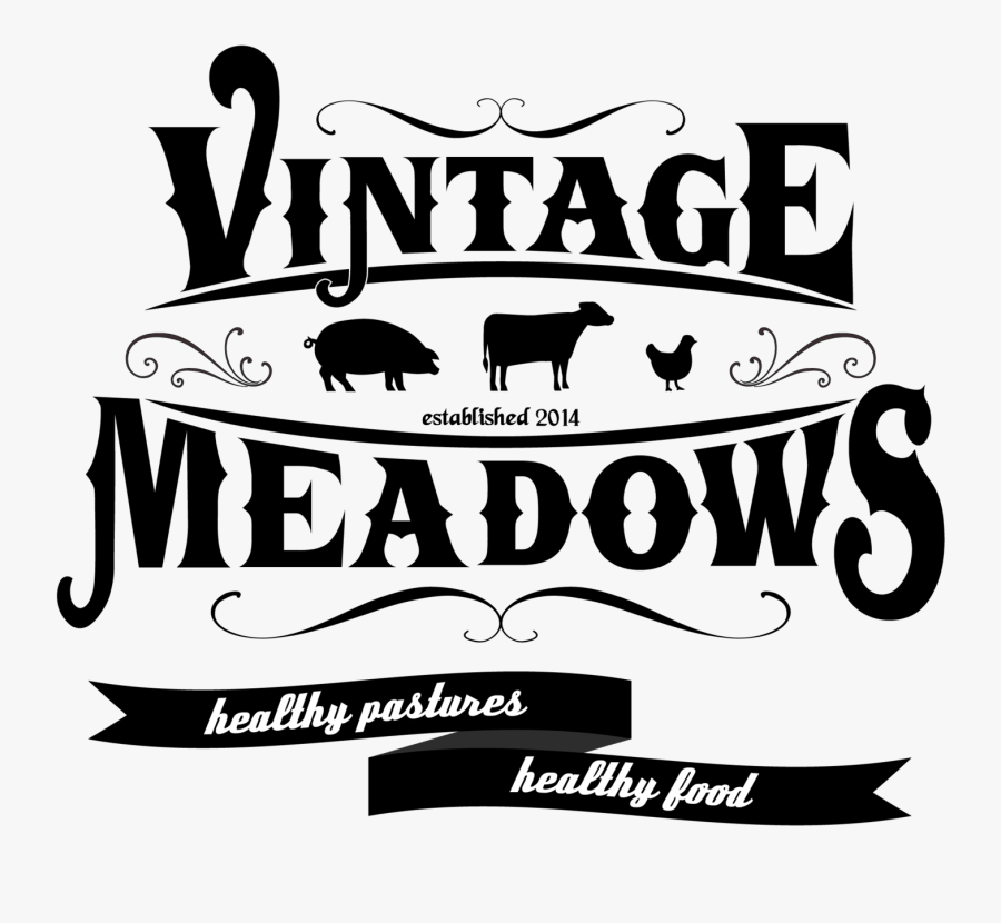 Vintage Meadows Farm - Free Vintage Fonts Farming, Transparent Clipart