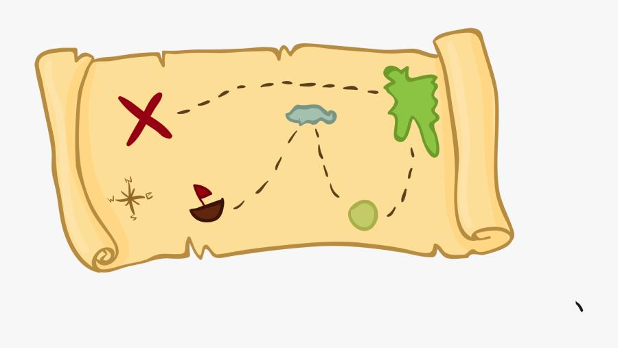 Treasure Map Cartoon Clipart - Treasure Map Clipart, Transparent Clipart