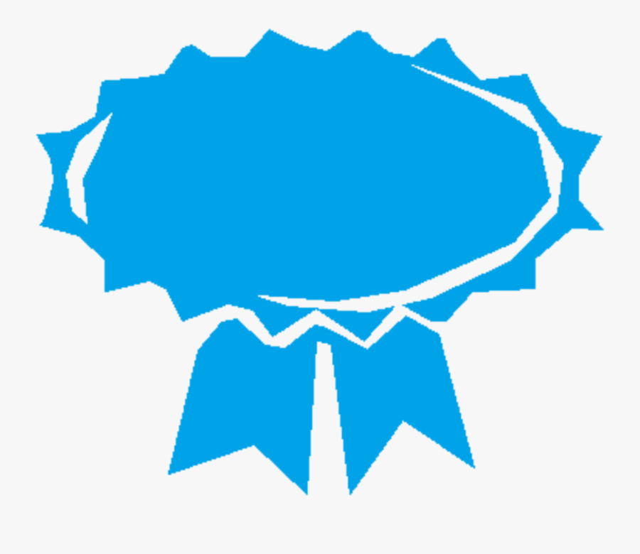 Blue,leaf,area - Blue Award Ribbon Transparent, Transparent Clipart