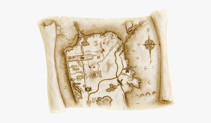 Old Treasure Map - San Francisco Treasure Map, Transparent Clipart