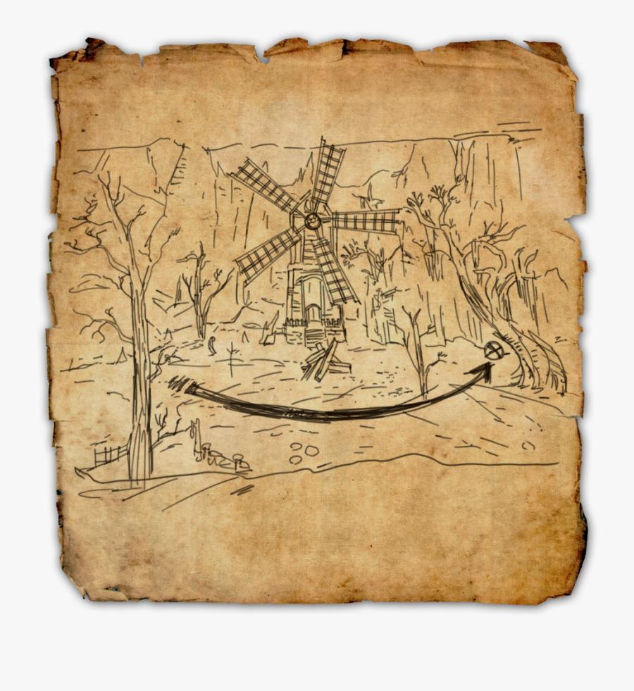 Treasure Map Png - Clockwork City Treasure Map 2, Transparent Clipart