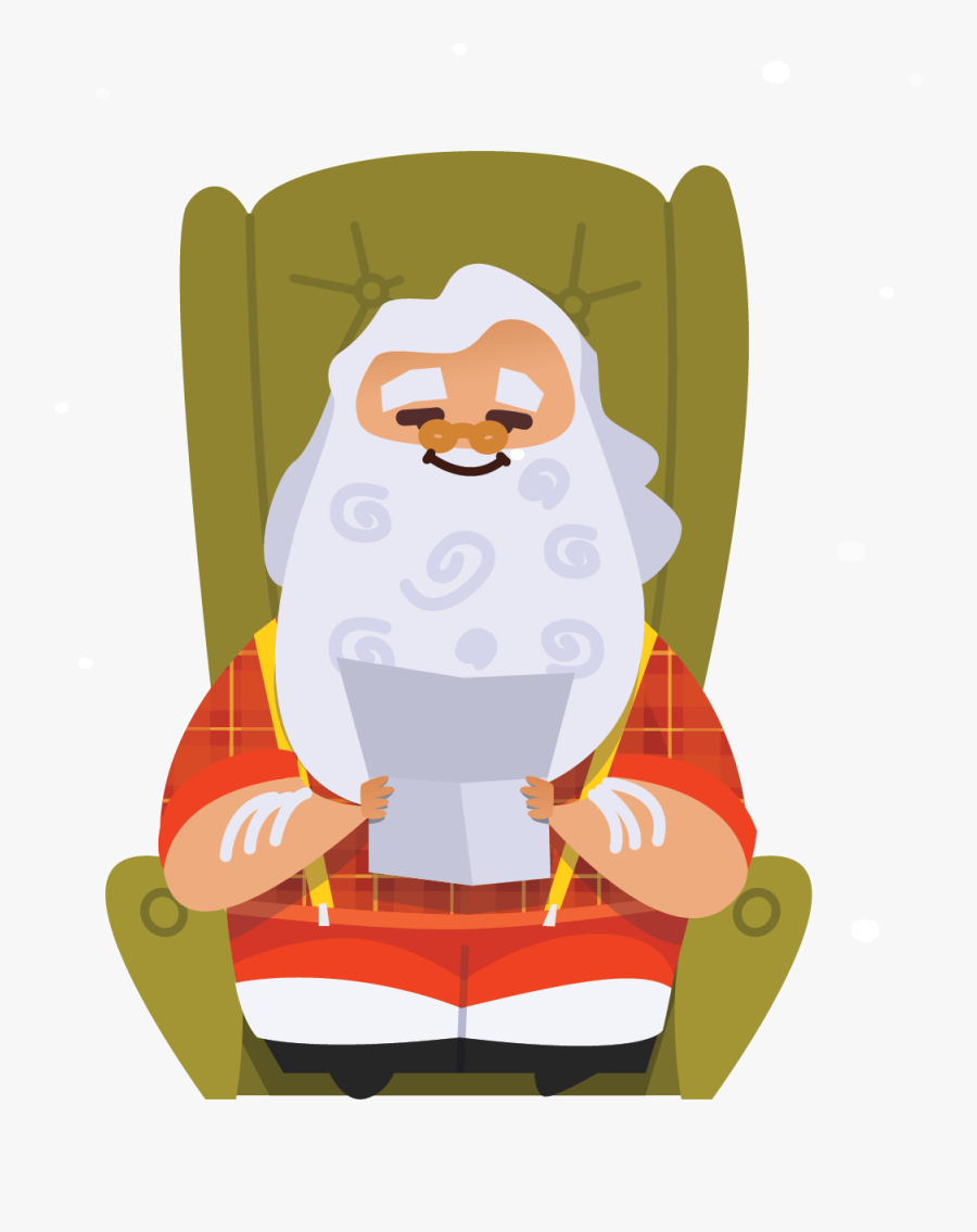 """""""here At The North Pole, We Observe A Holly Jolly Policy, - Illustration, Transparent Clipart"""