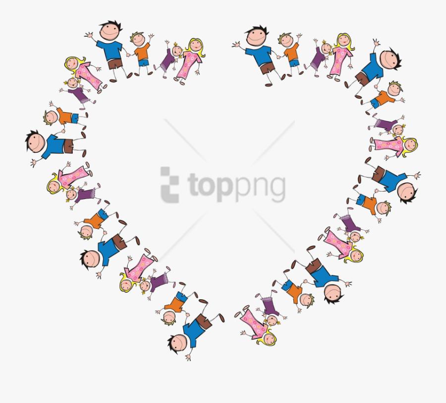 Free Png Freeof A Heart Frame Made Of Stick Family - Mother's Day 2019 India, Transparent Clipart