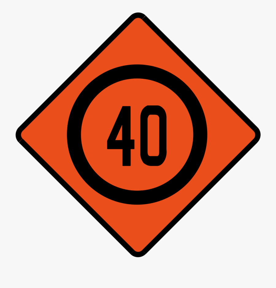 Transparent Speed Limit Sign Png - Traffic Sign, Transparent Clipart