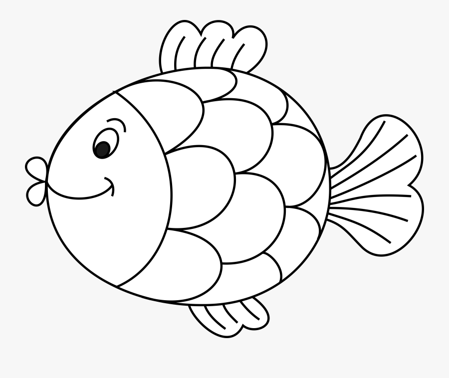 Line Art,art,fish - Cute Fish Clipart Black And White ...