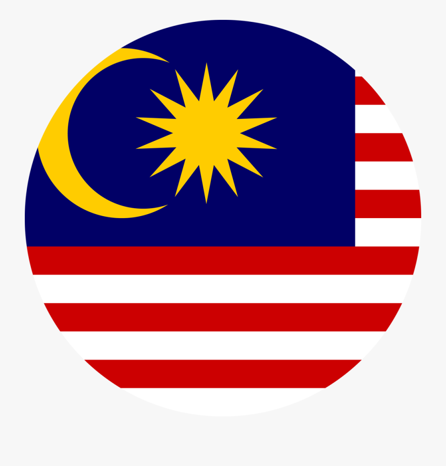 Malaysia Flag Circle Png Clipart , Png Download - Round Malaysia Flag Icon, Transparent Clipart