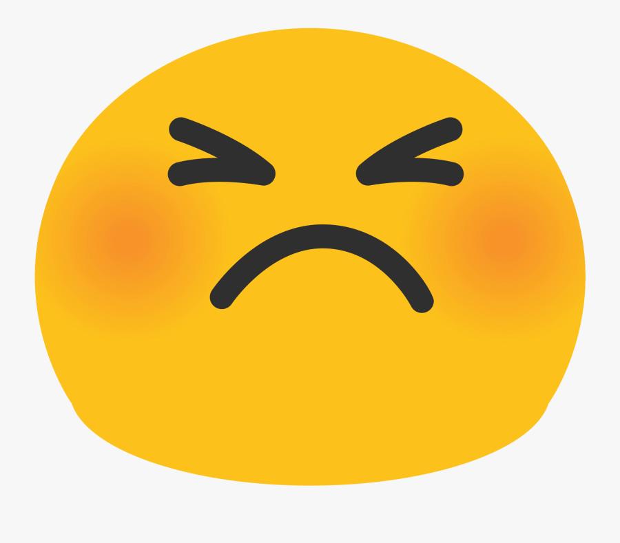 Blushing Emoji Png - Persevering Face Emoji, Transparent Clipart