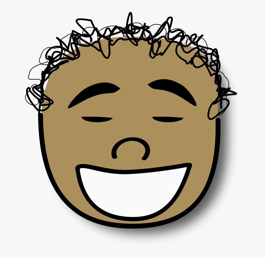 Cartoon Christian Clip Art Laughter Hair Face - Boy Angry Face Clipart, Transparent Clipart