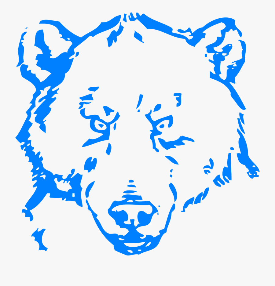 Transparent Angry Face Clipart - Bear Line Drawing Png, Transparent Clipart