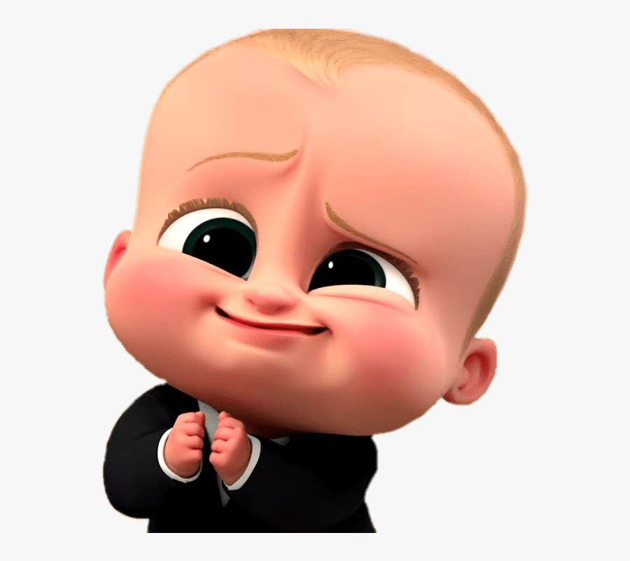Boss Baby Cute Face, Transparent Clipart
