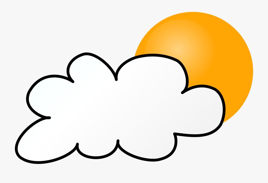 Cloudy Day Simple - Weather Symbols Rain, Transparent Clipart