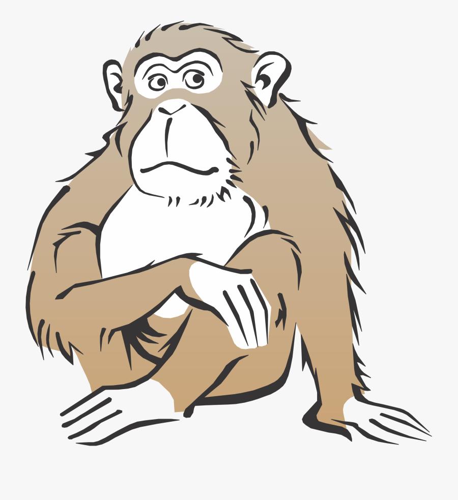 Monkey Free Cartoon Cliparts Clip Art Transparent Png - Monkey Clip Art Realistic, Transparent Clipart