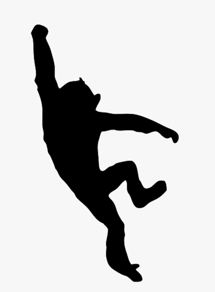 Swinging Monkey Silhouette, Transparent Clipart
